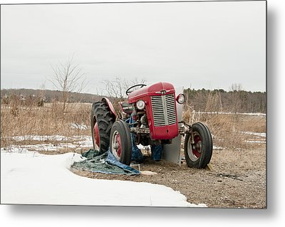 The Brave Little Tractor Metal Print by Eugene Bergeron