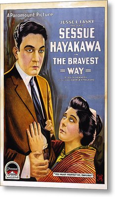 The Bravest Way, Us Poster Art, Sessue Metal Print by Everett
