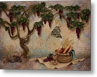 The Bread And The Vine Metal Print by April Moen