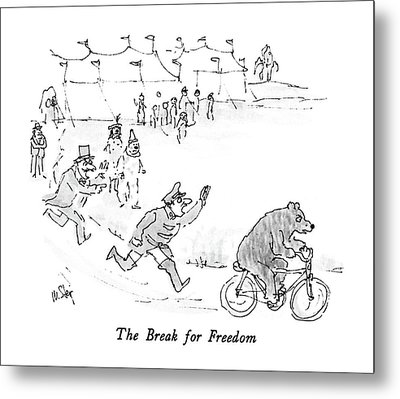 The Break For Freedom Metal Print by William Steig