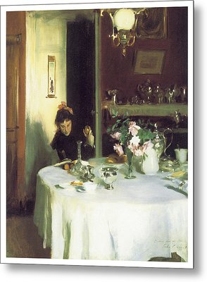 The Breakfast Table Metal Print by John Singer Sargent