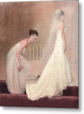 The Bride And Her Maid Of Honor Metal Print by Angela A Stanton