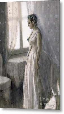 The Bride Metal Print by Anders Leonard Zorn