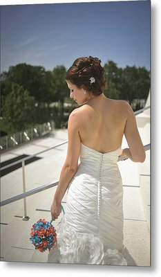 The Bride's Back Metal Print by Mike Hope