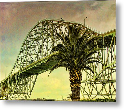 The Bridge As The Sun Breaks Through Metal Print by Wendy J St Christopher