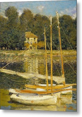 The Bridge At Argenteuil Metal Print by Claude Monet