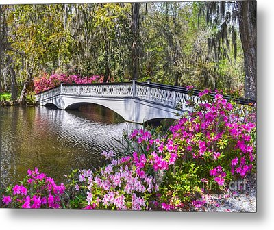 The Bridge At Magnolia Plantation Metal Print
