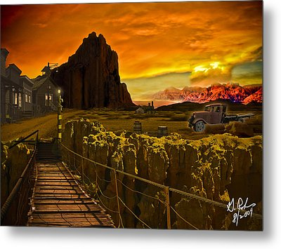 The Bridge Metal Print by Gerry Robins