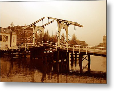 The Bridge Metal Print by Menachem Ganon
