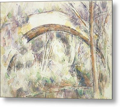 The Bridge Of Trois-sautets, C.1906 Wc & Pencil On Paper Metal Print by Paul Cezanne