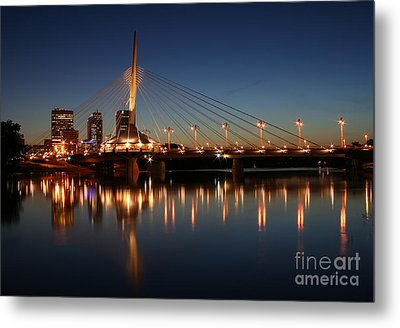 The Bridge Over Calm Waters Metal Print by Teresa Zieba