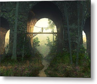 The Bridge Under The Bridge Metal Print
