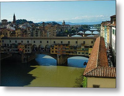 The Bridges Of Florence Italy Metal Print by Georgia Mizuleva