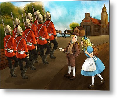 The British Soldiers Metal Print