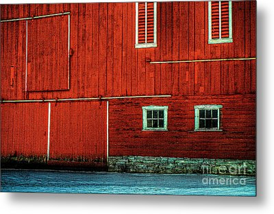 The Broad Side Of A Barn Metal Print by Lois Bryan