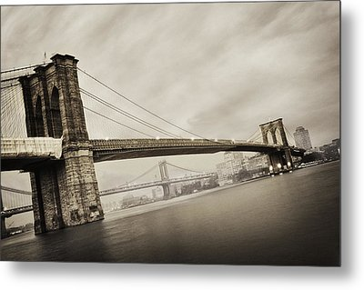The Brooklyn Bridge Metal Print by Eli Katz