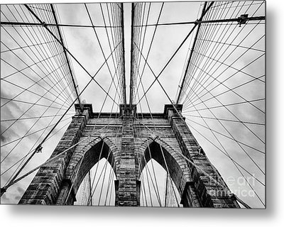 The Brooklyn Bridge Metal Print by John Farnan