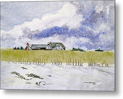 The Brown House On East Beach Metal Print