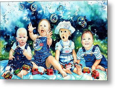 The Bubble Gang Metal Print by Hanne Lore Koehler