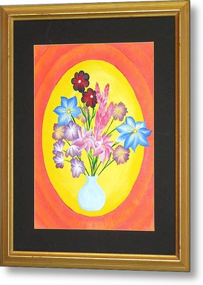 Metal Print featuring the painting The Bud Vase by Ron Davidson