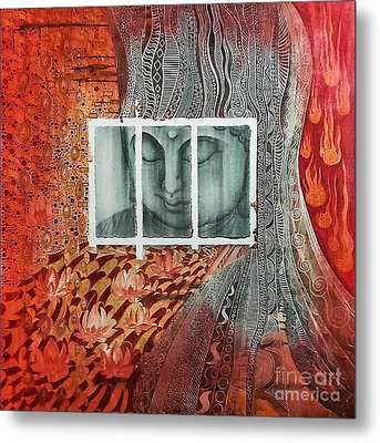 The Buddhist Color Metal Print by Fei A