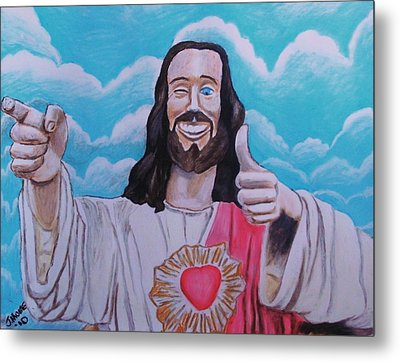 The Buddy Christ Metal Print by Jeremy Moore