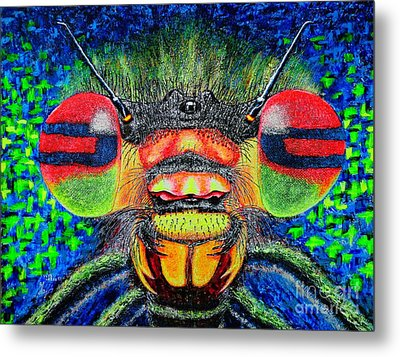 The Bug Metal Print by Viktor Lazarev