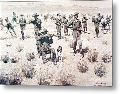 The Bullets Kicked Up Dust Metal Print by Pg Reproductions