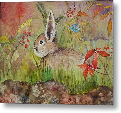 The Bunny Metal Print by Mary Ellen Mueller Legault