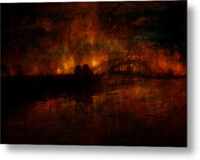 The Burning Of Sydney Metal Print by Kim Gauge