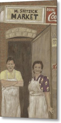 The Butcher And His Wife  Metal Print by Arlene Crafton
