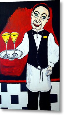 Metal Print featuring the painting The Butler  by Nora Shepley