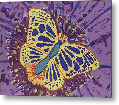 Metal Print featuring the painting The Butterfly Conspiracy by Yshua The Painter