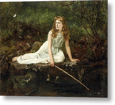 The Butterfly Metal Print by John Collier