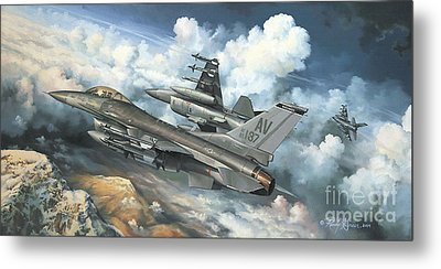 The Buzzard Boys From Aviano Metal Print by Randy Green