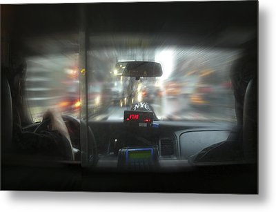 The Cab Ride Metal Print by Mike McGlothlen