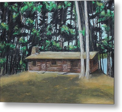 The Cabin Metal Print by Jeanne Fischer