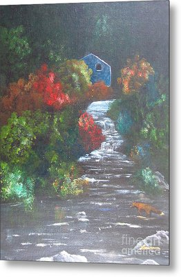 The Cabin Metal Print by Laurianna Taylor