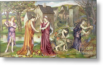 The Cadence Of Autumn Metal Print by Evelyn De Morgan