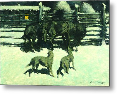 The Call For Help Metal Print by Fredrick Remington