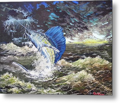 The Calm The Crazy The Sailfish Metal Print