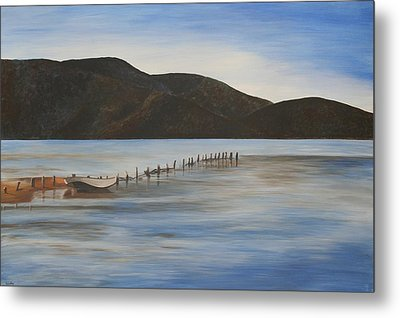 The Calm Water Of Akyaka Metal Print