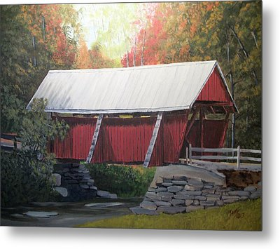 The Campbell Covered Bridge Metal Print by Matty Dreadlocks