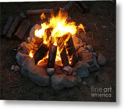 The Campfire Metal Print by Boon Mee