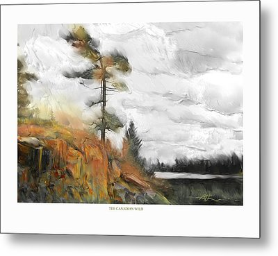 Metal Print featuring the painting The Canadian Wild by Bob Salo