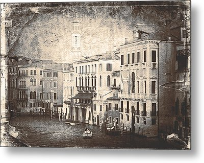 The Canals Of Venice  Metal Print