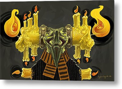 The Candle Man Metal Print by Augustinas Raginskis
