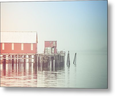 The Cannery In Fog Metal Print by Michele Cornelius