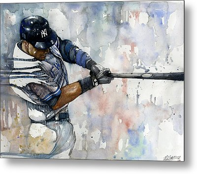 The Captain Derek Jeter Metal Print