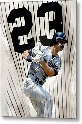 The Captain Donnie Baseball Don Mattingly Metal Print